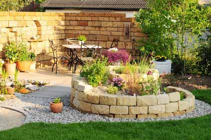 Steinmauer und Gartenbauarbeiten in Pfronten